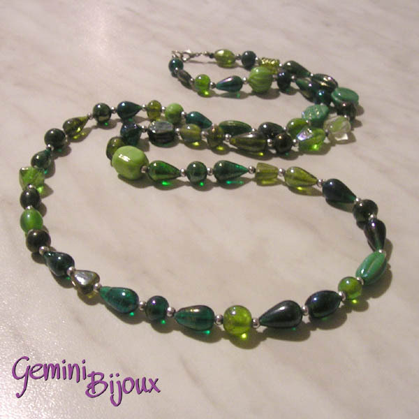 Collana mix verde