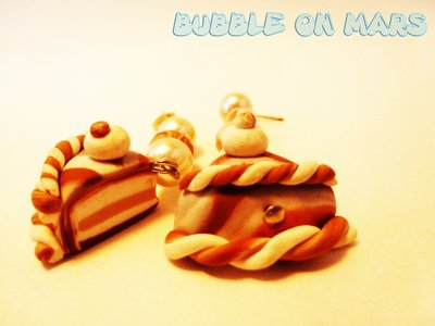 Choco Milk Cake Earrings