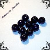 Perle di legno blu