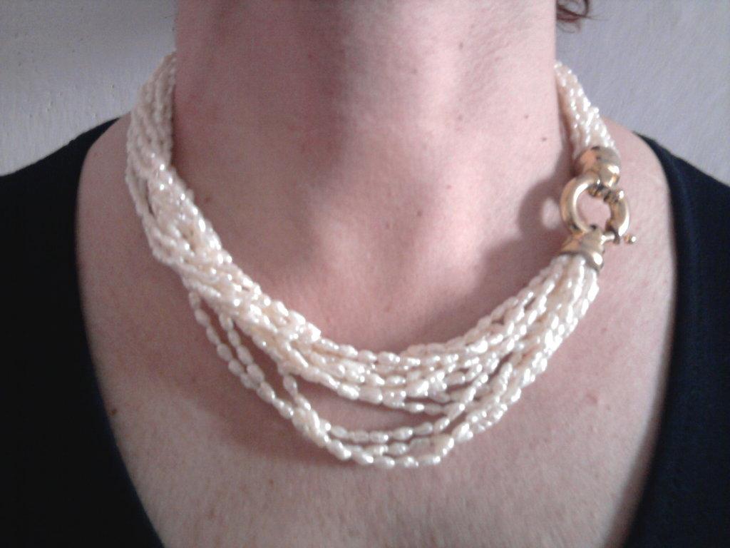 tourchon di perle di fiume vere
