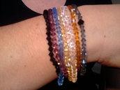 Bracciali colorati in cristalli swaroski