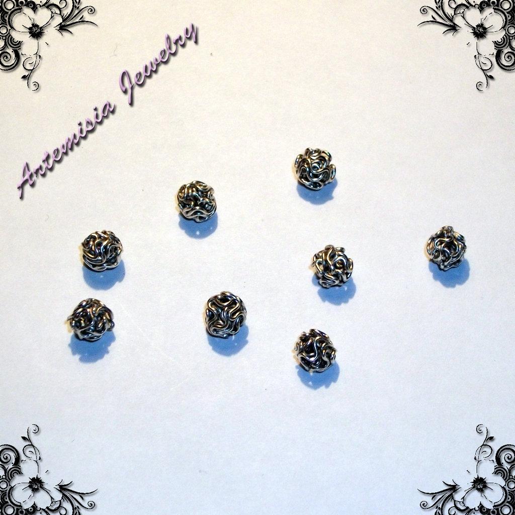 Perle metallo nodo piccole