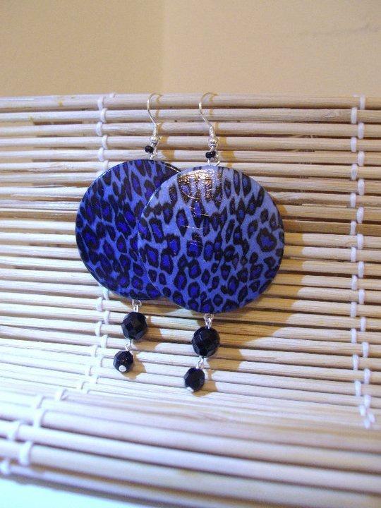 orecchini savana blu