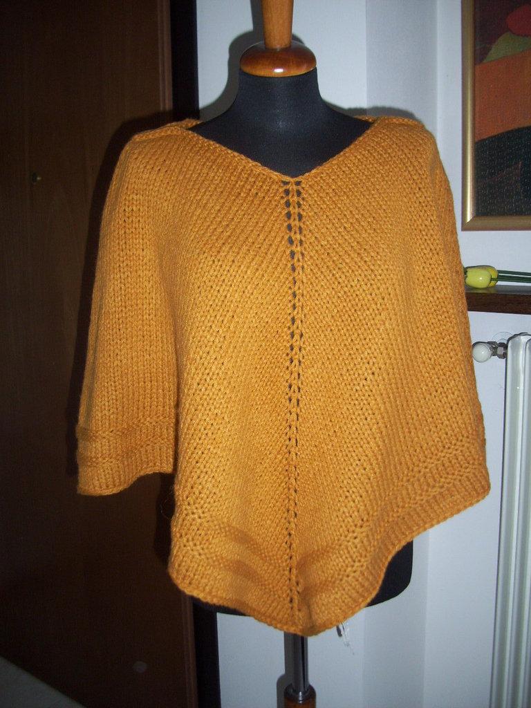 poncho lana alpaca fatto a mano