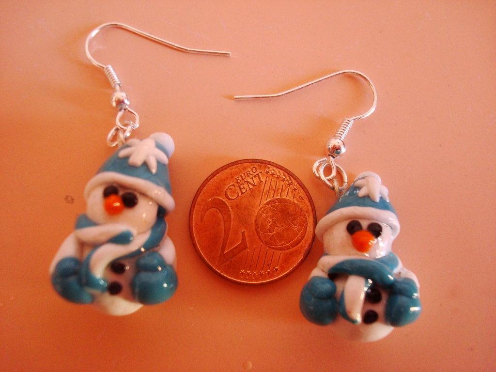 orecchini pupazzo di neve