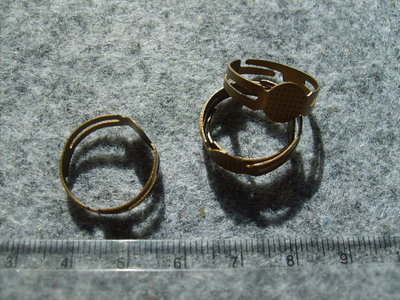 Lotto 8 pz base x anello bronzo