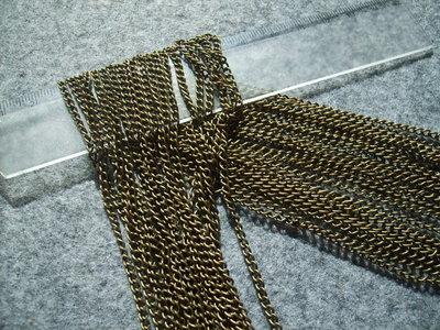 1 metro di catena bronzo