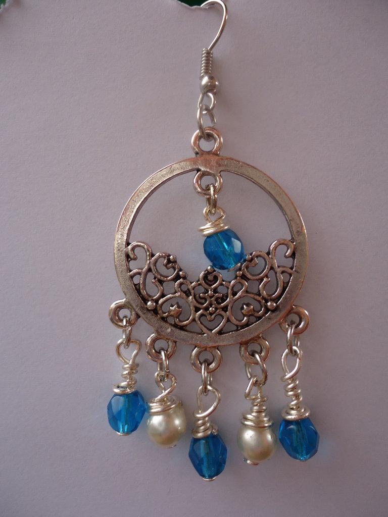 orecchini pendente stile argento tibetano