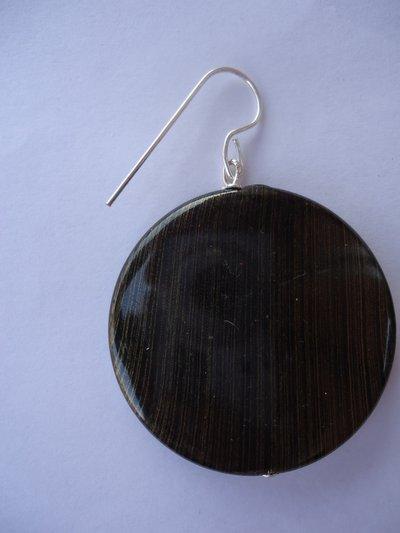 orecchini con dischi piatti striati