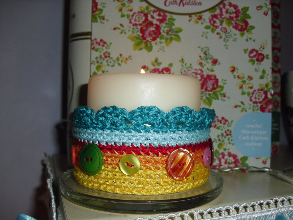 Scatolina/Portacandela crochet