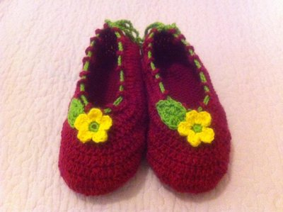 Scarpine di lana crochet