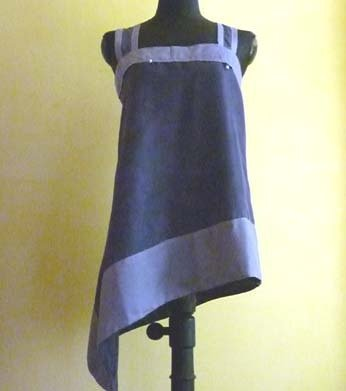 Vestito in seta color sambuco