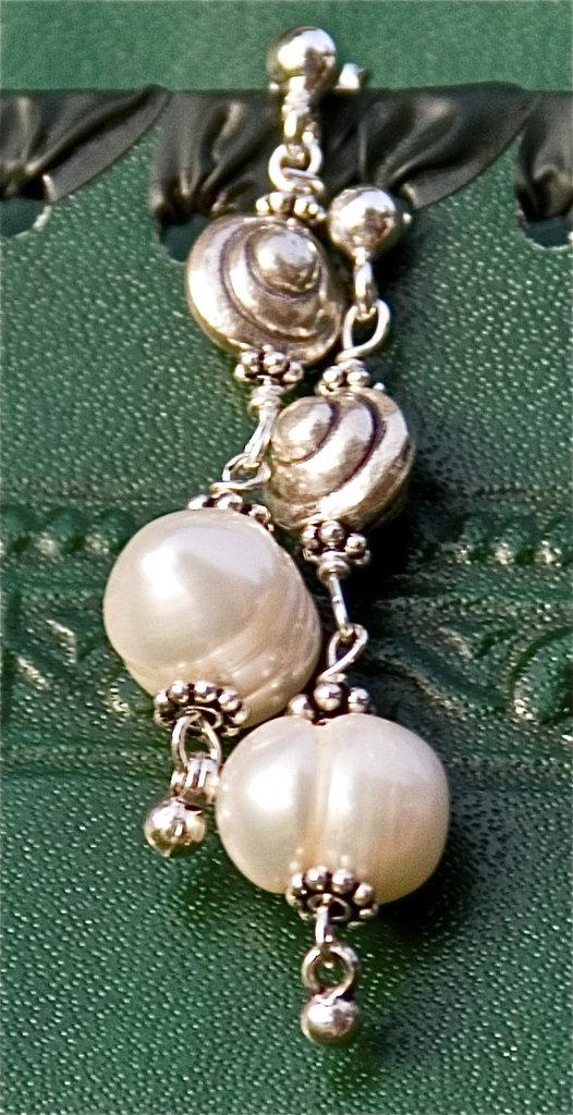White sea earrings