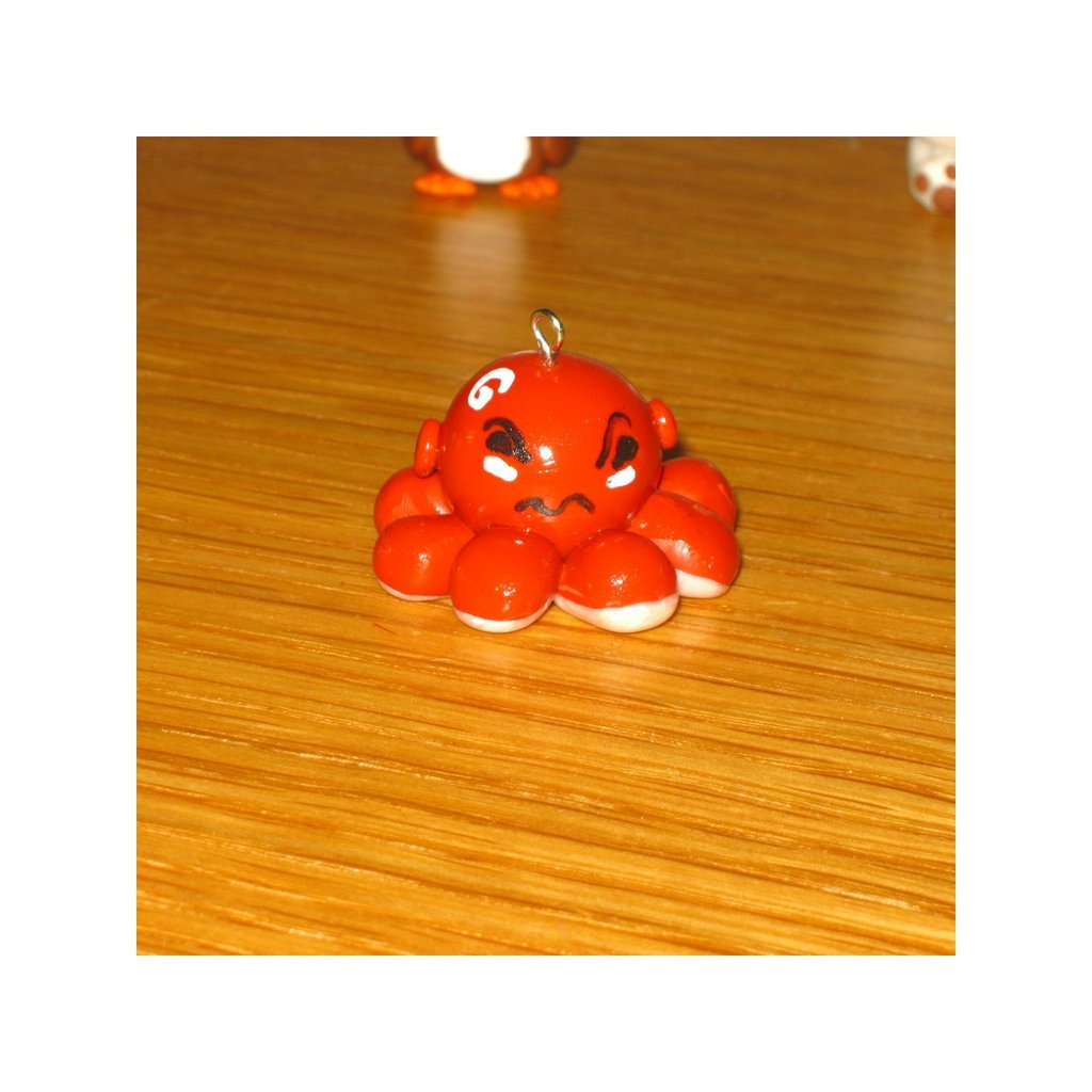 Octopus Charm in polymer clay
