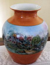 "Vaso porcellana riproduzione ""Cottages"" di Kinakde"