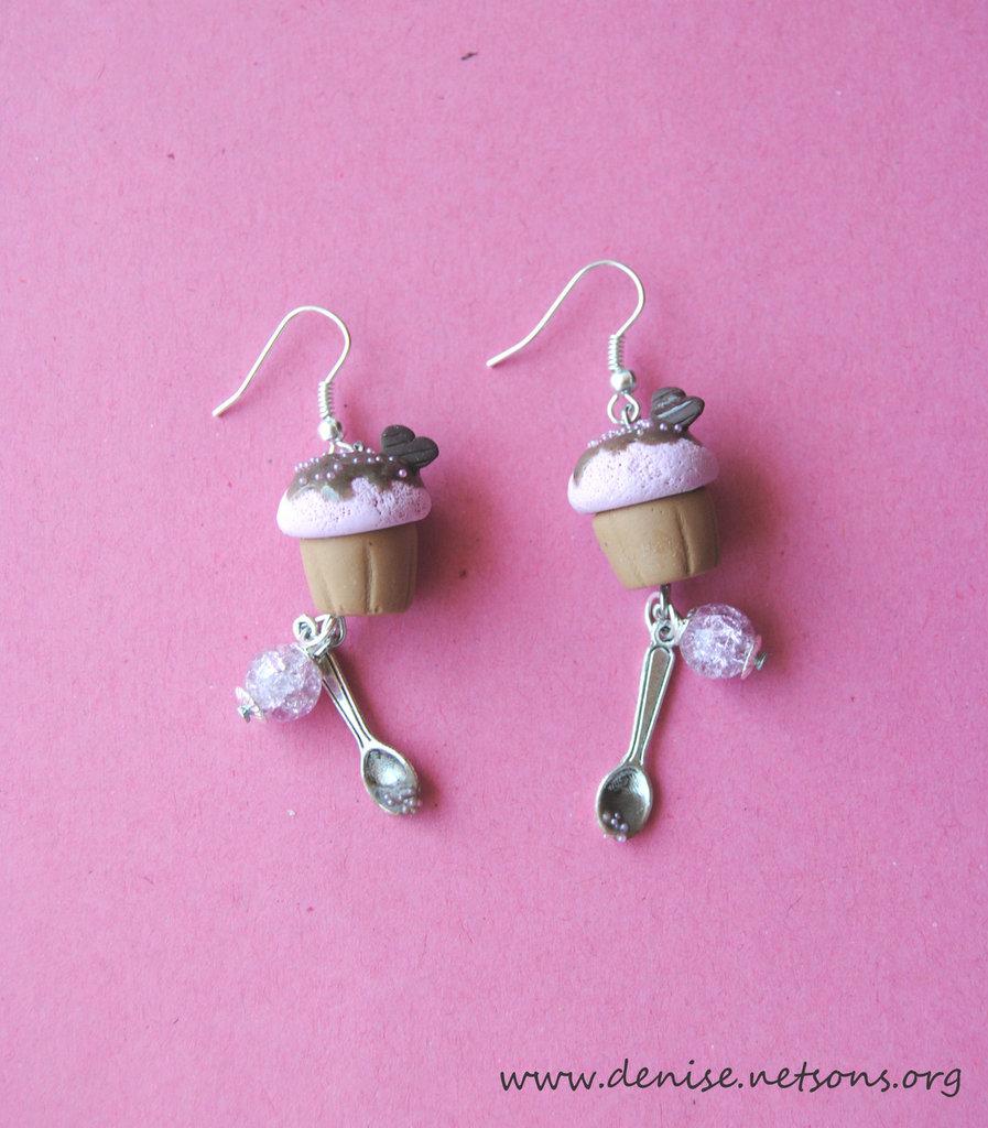 Chocolate Cupacakes - Orecchini