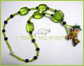 """Collana """"Fufulletto"""" 2012 Folletto fimo cernit kawaii elph necklace collier lutin verde vert green"""
