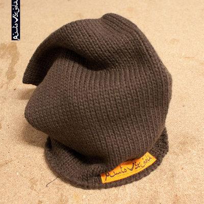 """Cappello marrone """"PuntoVirgola"""""""