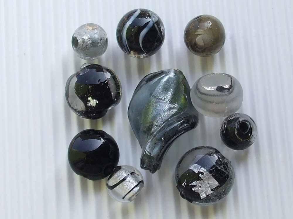 10 perle vetro veneziano vend.
