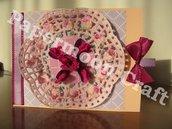 Bigliettino torta di rose