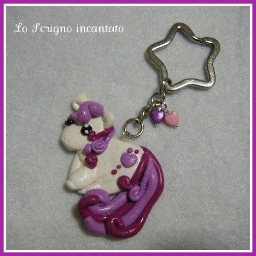 Portachiavi Little Pony in fimo