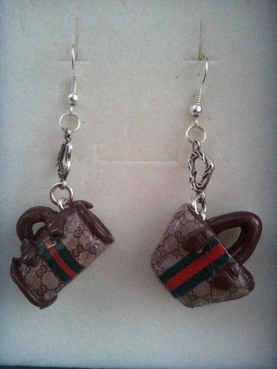 orecchini fatti a mano...miniature borse