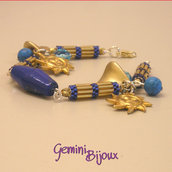 Bracciale oro blu