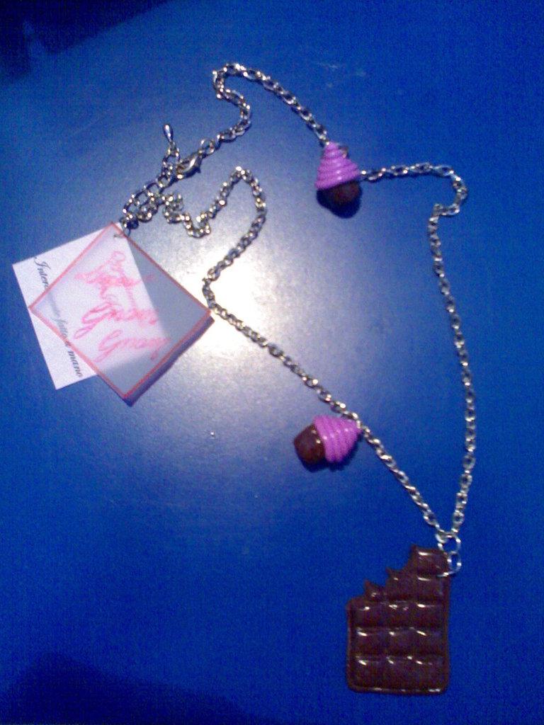 Collana Barretta di Cioccolato...