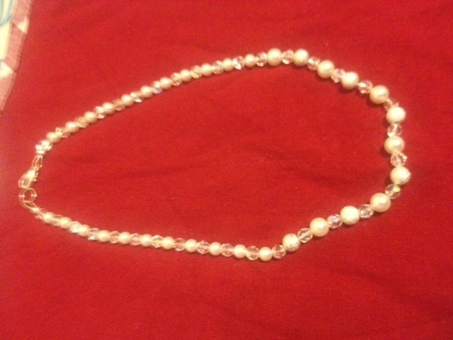 collana perle e cristalli swarovsky