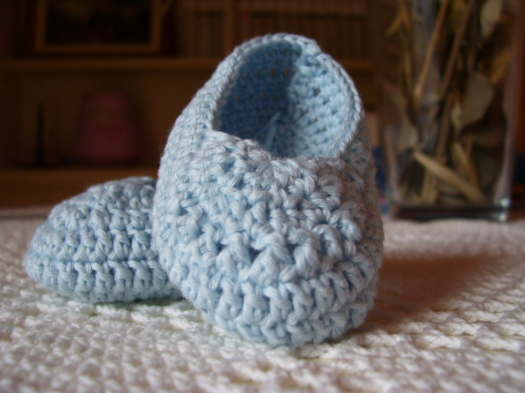Scarpine neonato in cotone biologico italiano