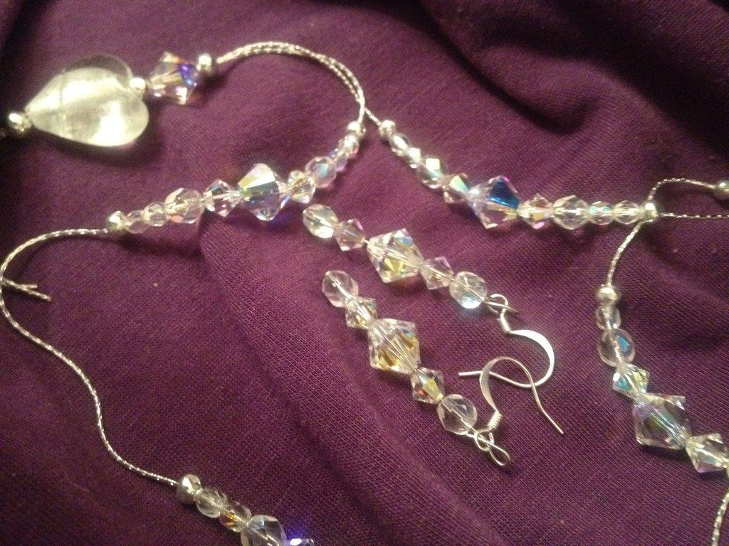 collana orecchini e bracciale crystal swarovsky