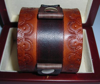 bracciale in pelle cuoio per orologio leather cuff watchband