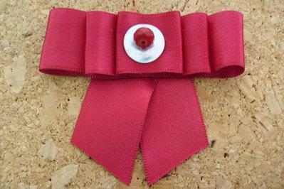 Fermacapelli in seta rosso