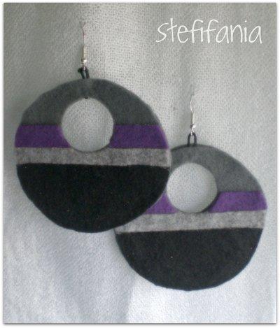 Orecchini in feltro handmade