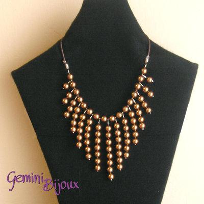 Collana perle bronze