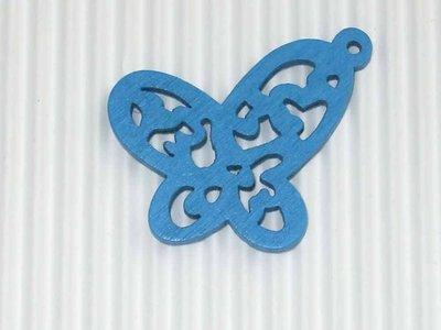Farfalla legno turchese