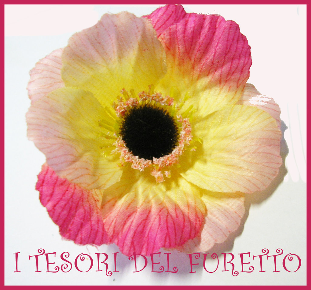 Fermaglio Peonia rosa kawaii clip