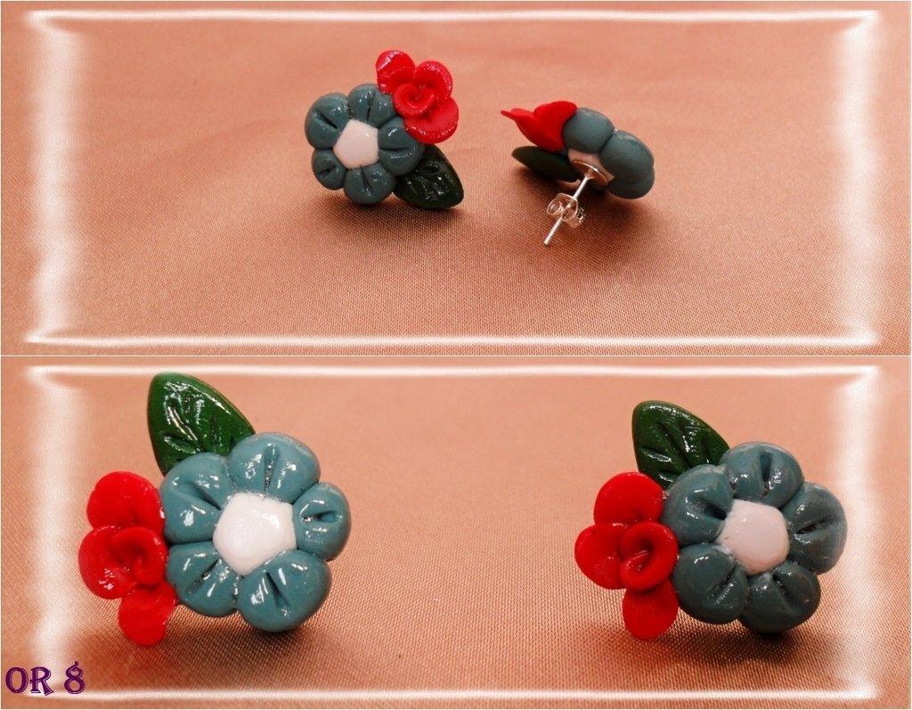 orecchini fiori