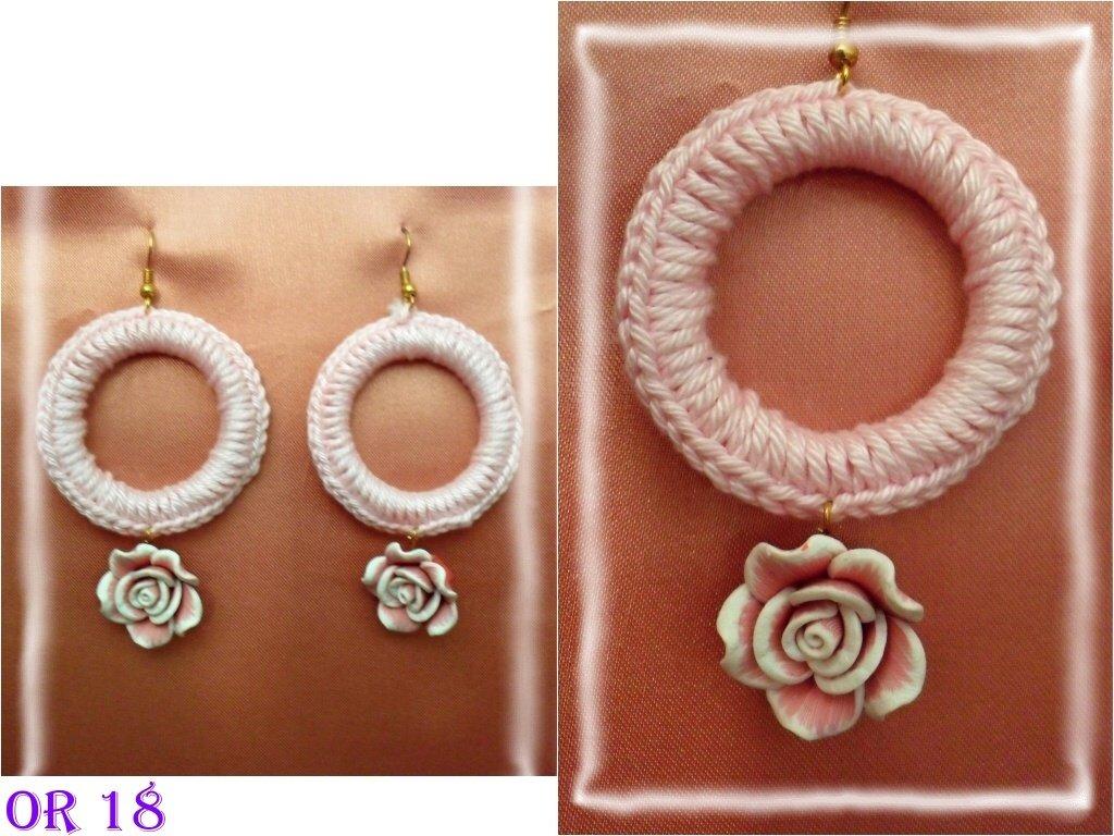 orecchini cerchio cotone