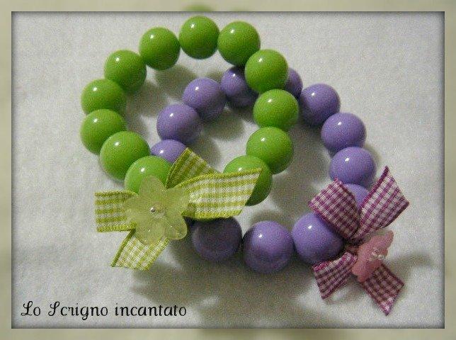 Bracciali perle e fiori