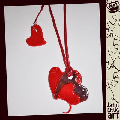 Art_0019_Collana ciondolo cuori rossi