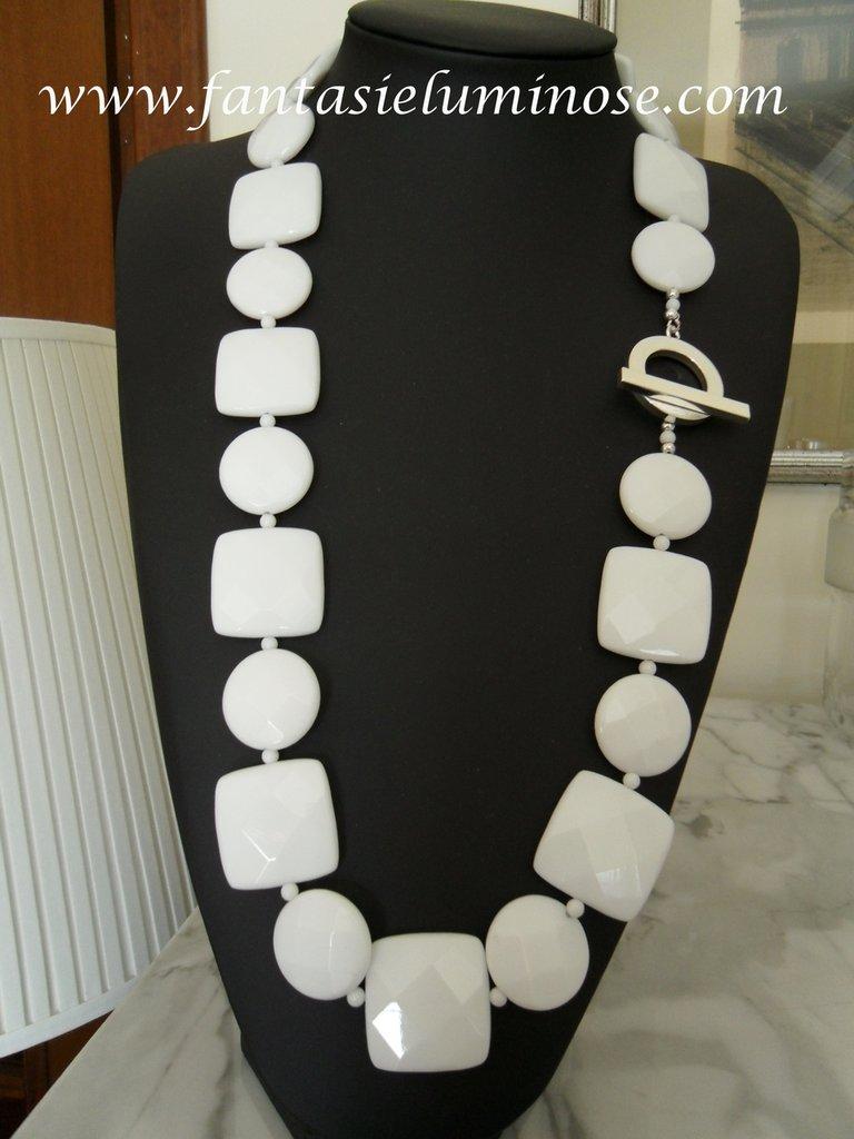collana agata bianca