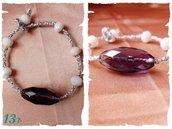 bracciale cotone argento