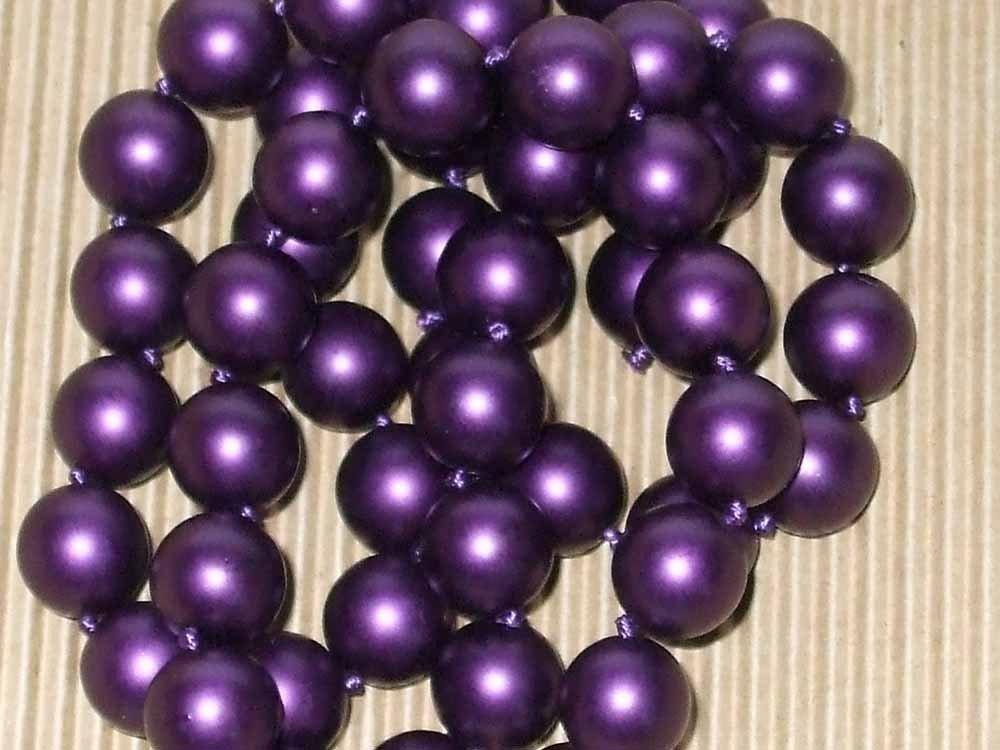 perle in vetro cerato 10mm viola scuro S.