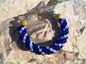 bracciale blu&white