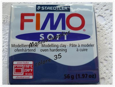 Offerta!!!!PANETTO FIMO SOFT STAEDTLER BLU WINDSOR 56 GR POLYMER CLAY