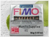 offerta!!!!PANETTO FIMO EFFECT STAEDTLER SILVER ARGENTO 56 GR POLYMER CLAY