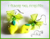 Orecchini Limoni fimo cernit kawaii primavera 2012
