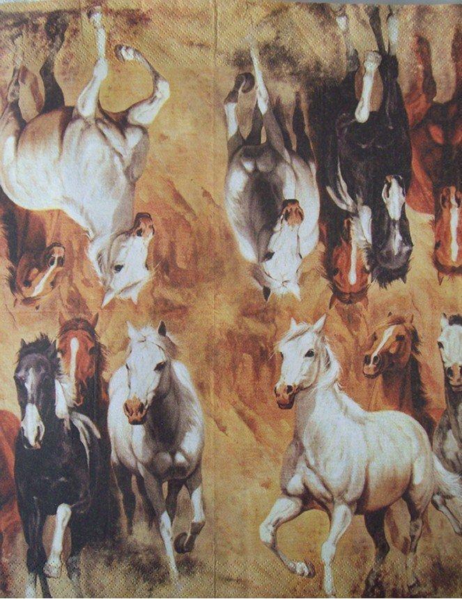 tovagliolo cavalli in corsa