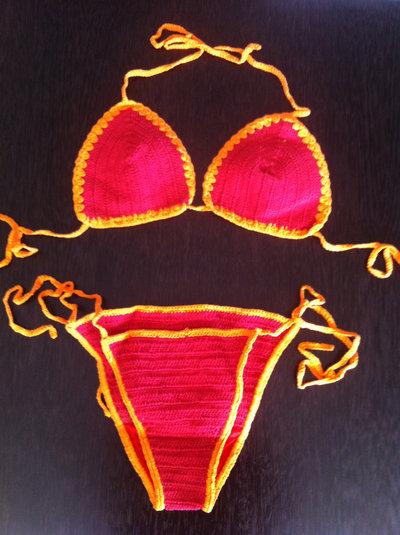 Bikinis artesanales en crochet